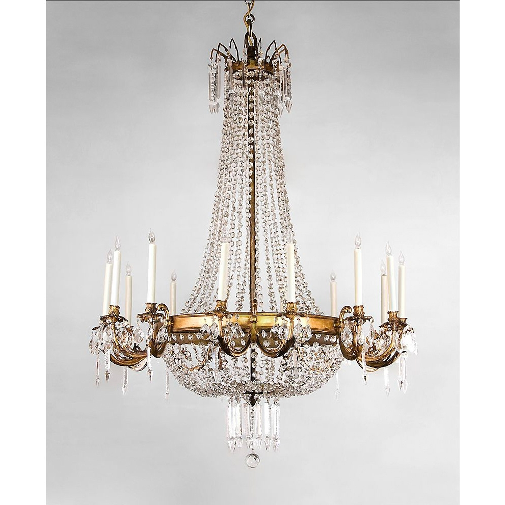 Excellent Gallery Empire Style Crystalr Antique Frenchmpire Light inside Favorite Vintage Style Chandeliers