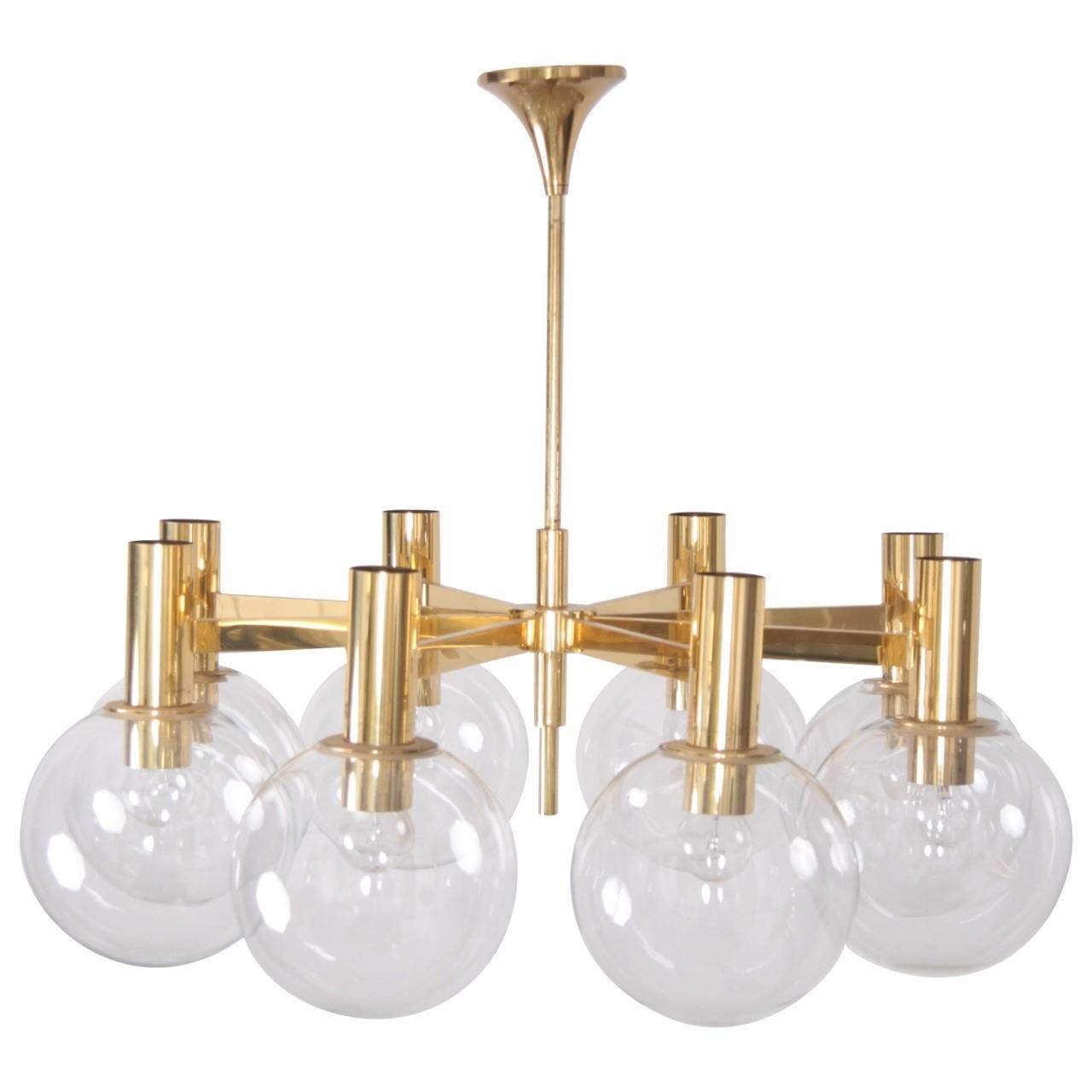 Extra Large Brass Chandelier With Eight Armsott International Within Popular Large Brass Chandelier (Gallery 10 of 15)