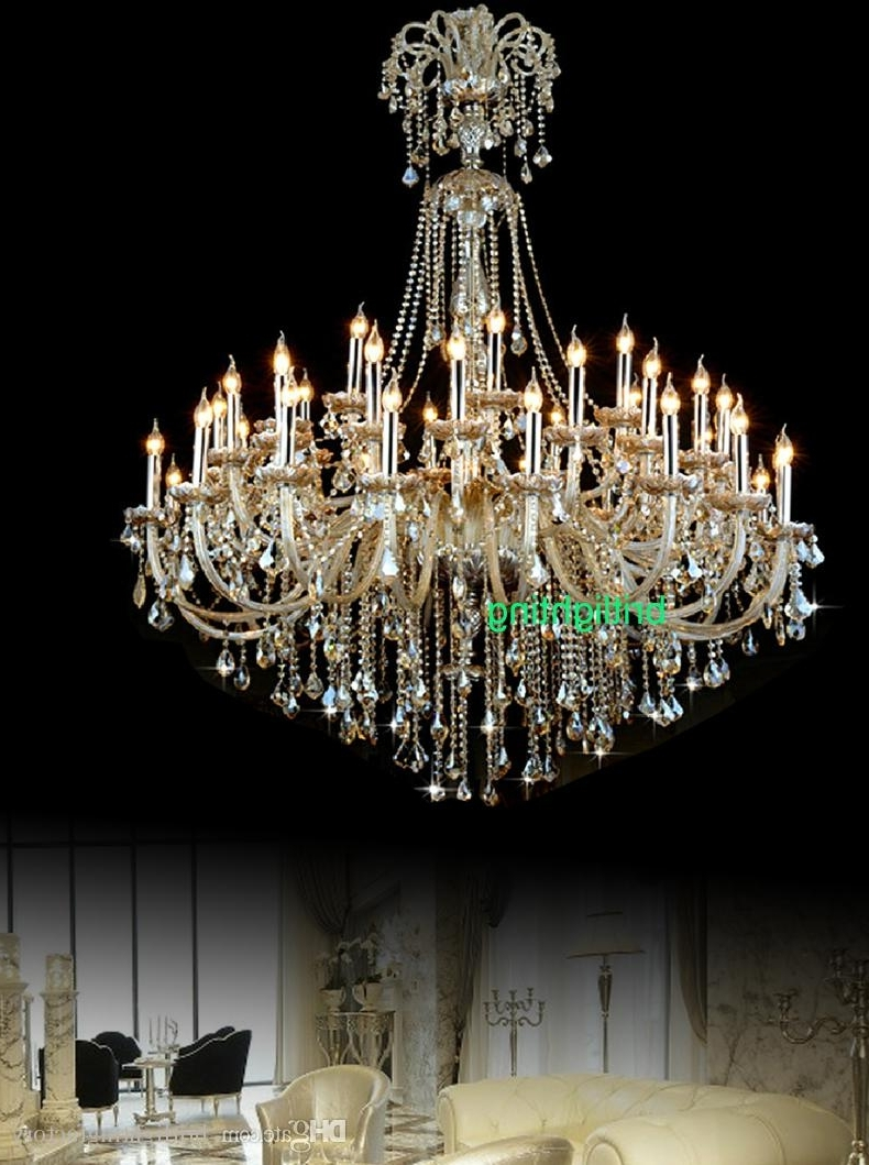 Extra Large Crystal Chandelier Lighting Entryway High Ceiling For Trendy Huge Crystal Chandelier (Gallery 5 of 15)