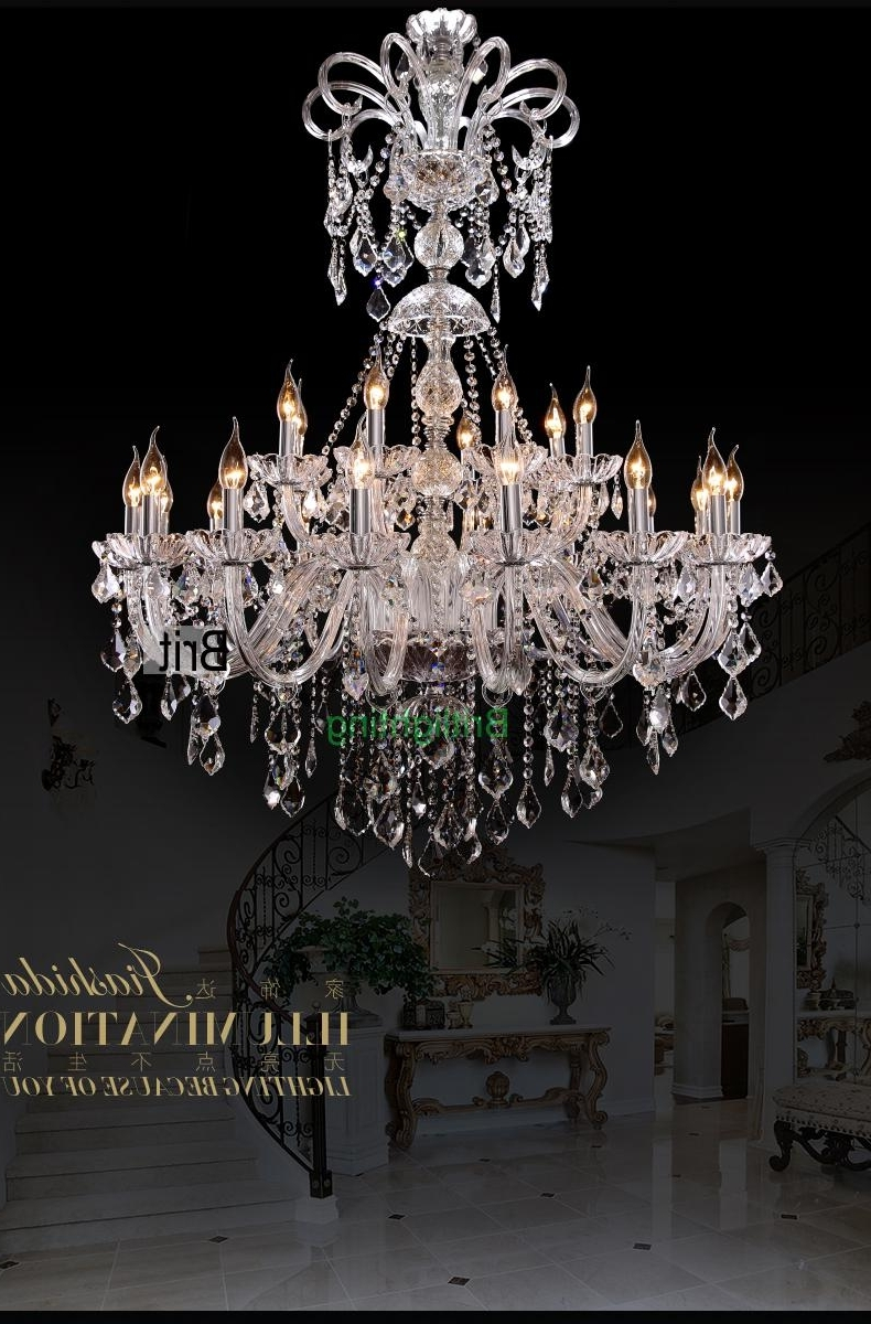 Extra Large Foyer Chandelier Vintage Chandeliers Modern Crystal Throughout Preferred Extra Large Modern Chandeliers (Gallery 4 of 15)
