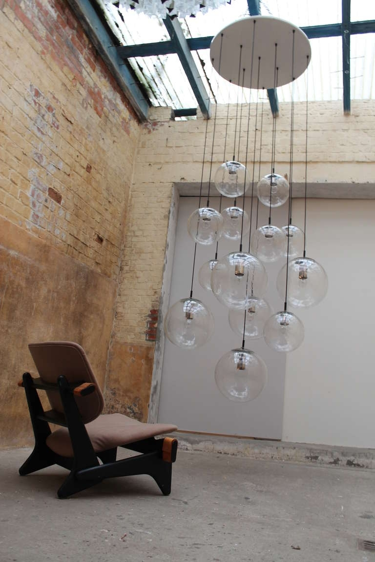 Extra Large Modern Chandeliers In Newest 2 Impressive Xxl Glass Balls Chandeliersraak Amsterdam Holland (Gallery 13 of 15)