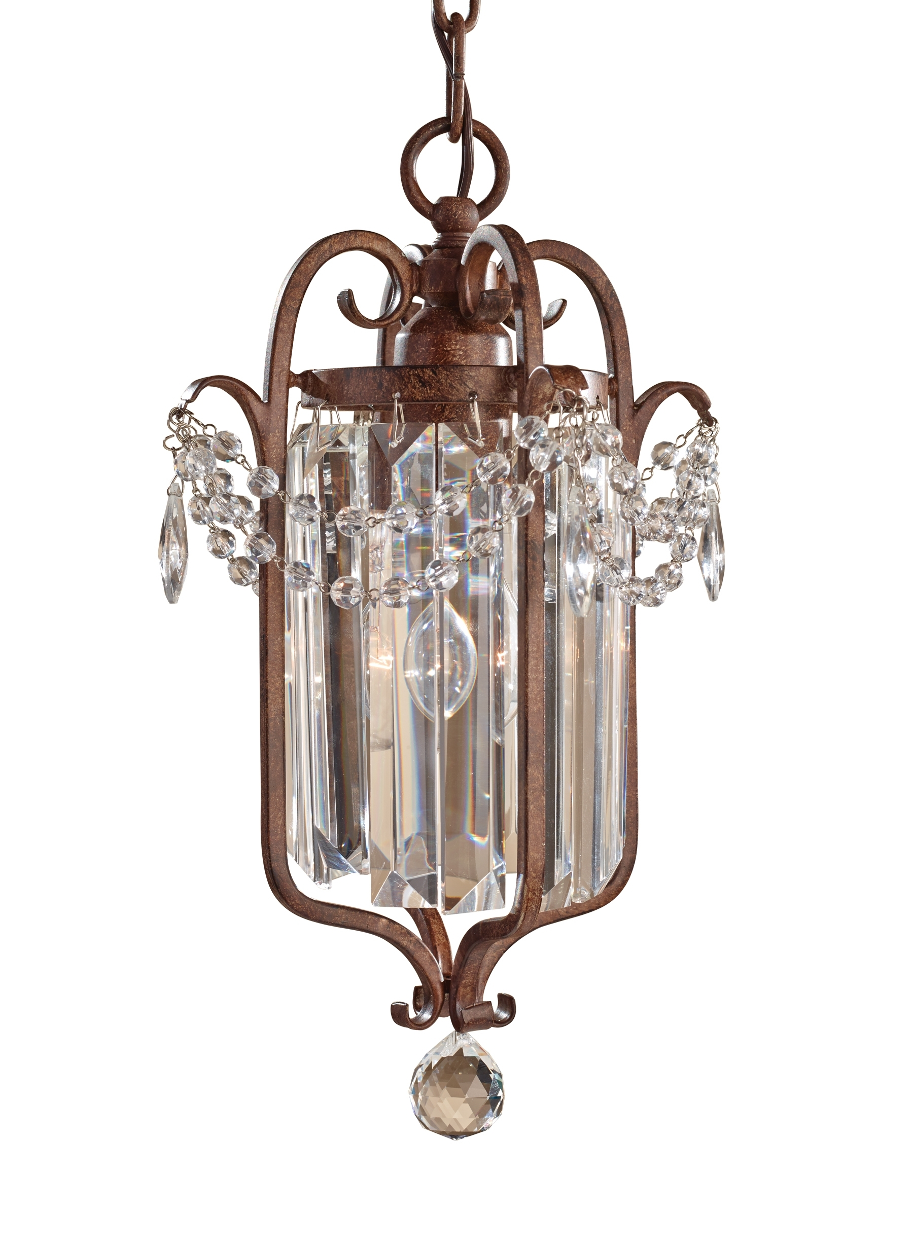 F2474/1Mbz,1 – Light Mini Duo Chandelier,mocha Bronze Intended For Most Up To Date Gianna Mini Chandeliers (View 7 of 15)