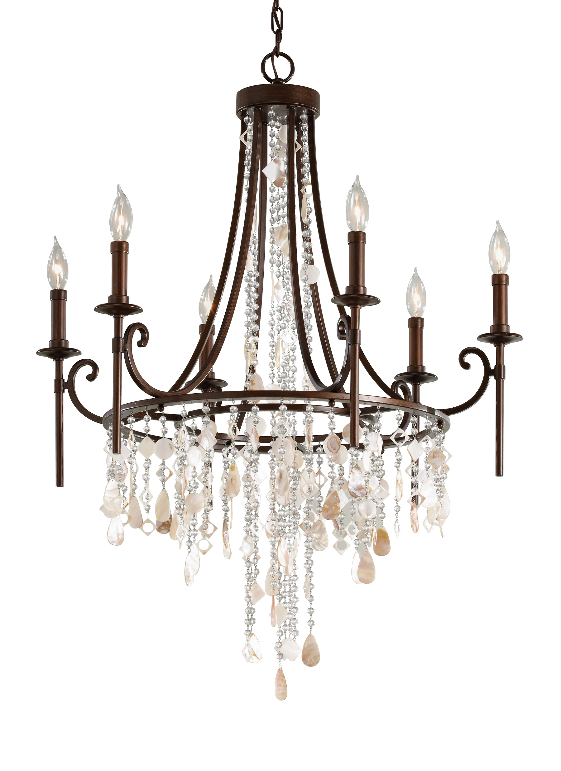 F2660/6Htbz,6 – Light Single Tier Chandelier,heritage Bronze Throughout Most Recently Released Feiss Chandeliers (View 5 of 15)