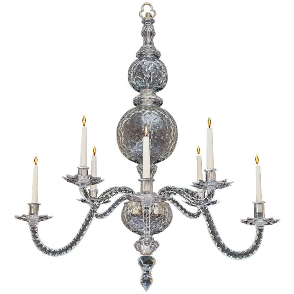 Famous Georgian Chandeliers With Regard To Extremely Rare English George Ii Period Cut Glass Chandelier For (View 4 of 15)