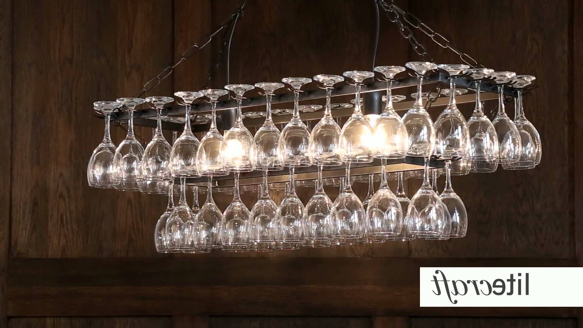 Famous Glass Chandeliers In Wine Glass Chandelier (View 2 of 15)