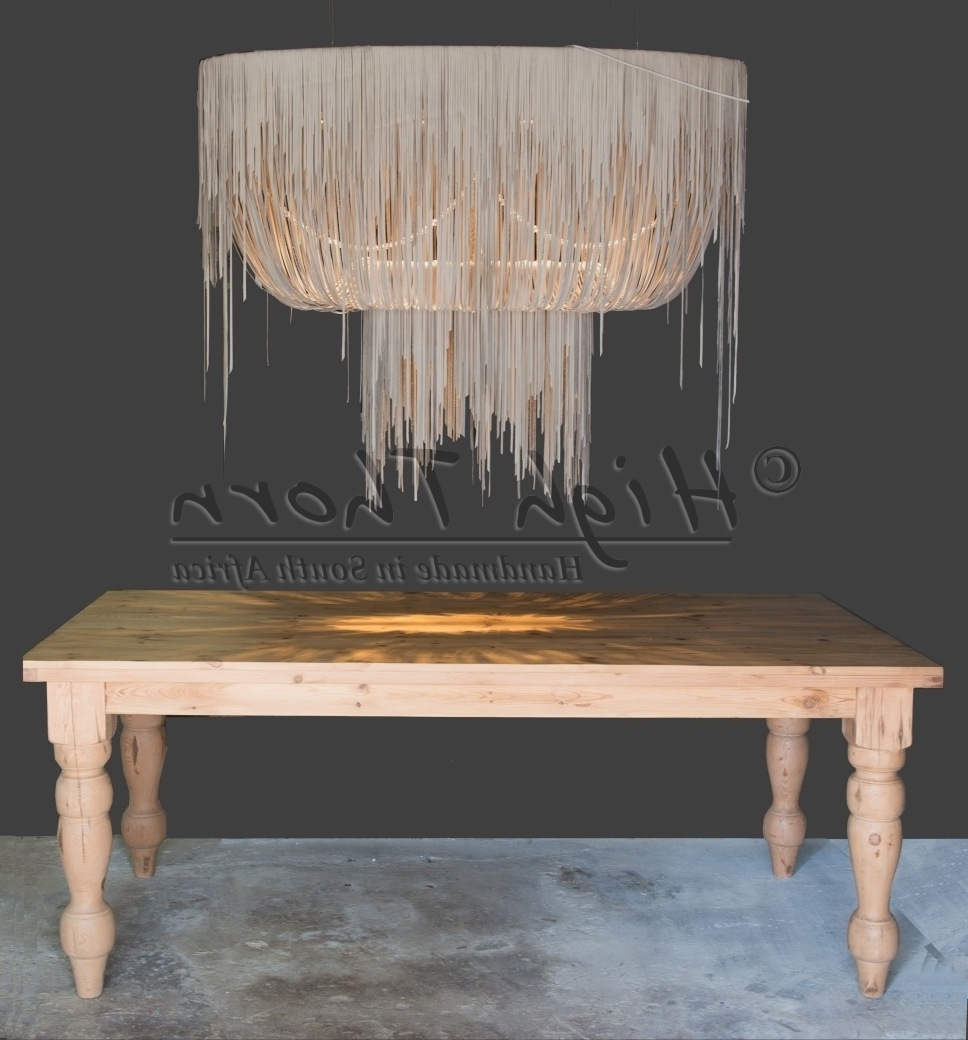 Famous High Thorn – Handmade In South Africa – Lighting, Furniture, Home Pertaining To Leather Chandeliers (View 9 of 15)