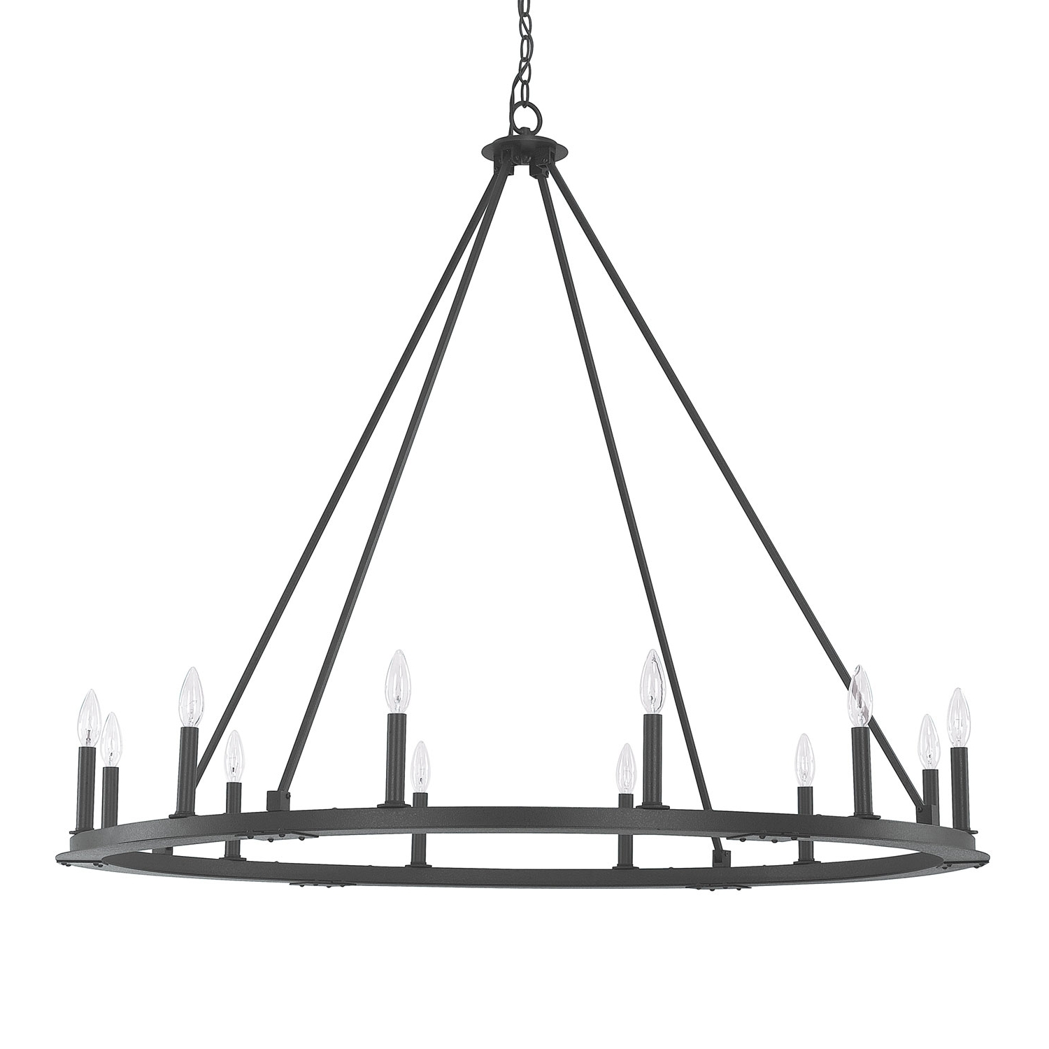 Famous Iron Chandelier Within Capital Lighting Fixture Company Pearson Black Iron Twelve Light (View 3 of 15)