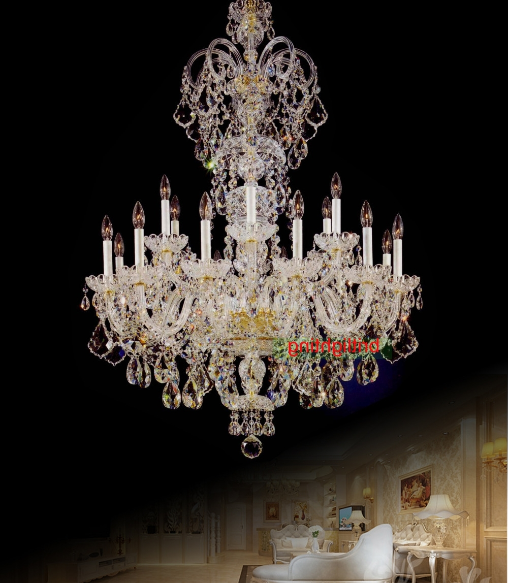 Famous Large Crystal Chandeliers Within Large Crystal Chandelier Entrance Hall Lighting Luxury Crystal Light (View 2 of 15)