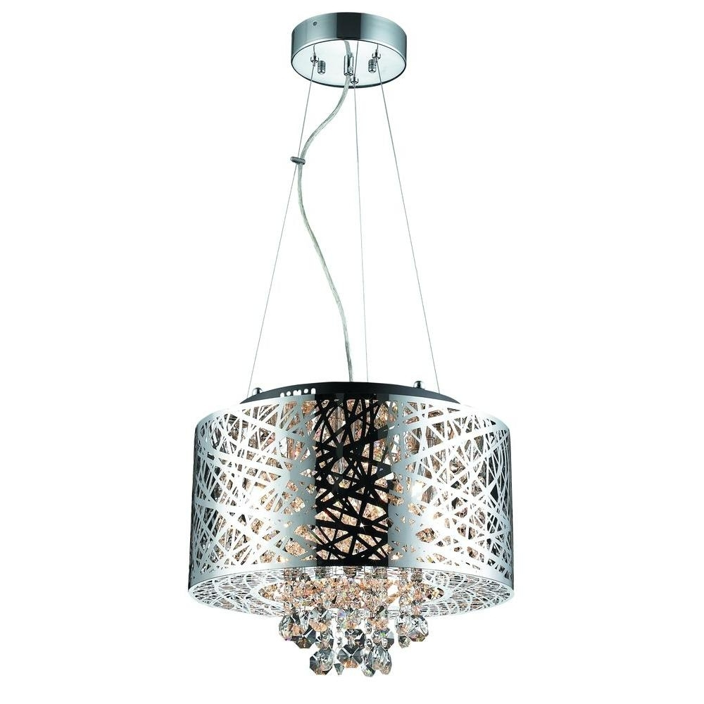 Famous Light Fitting Chandeliers With Regard To Decor Living 6 Light Chrome Medium Helix Chandelier 103973 15 – The (View 9 of 15)