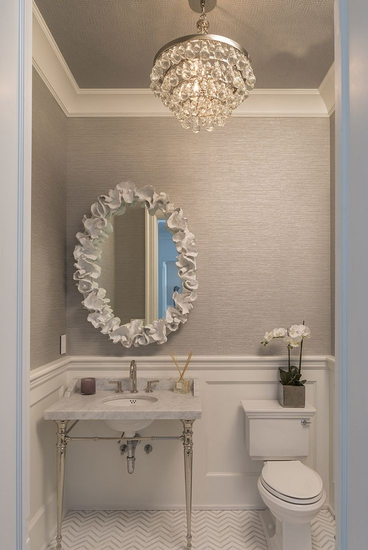 Famous Mini Bathroom Chandeliers For Chandeliers Design : Wonderful Bathroom Chandeliers Ideas Stained (View 5 of 15)