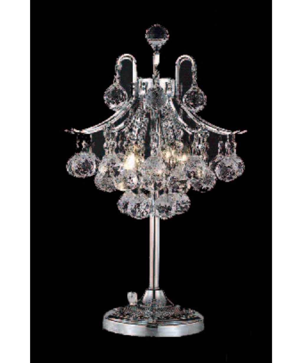 Famous Mini Chandelier Table Lamps Regarding Lighting: Spectacular Mini Chandelier Table Lamp For Modern Living (View 5 of 15)