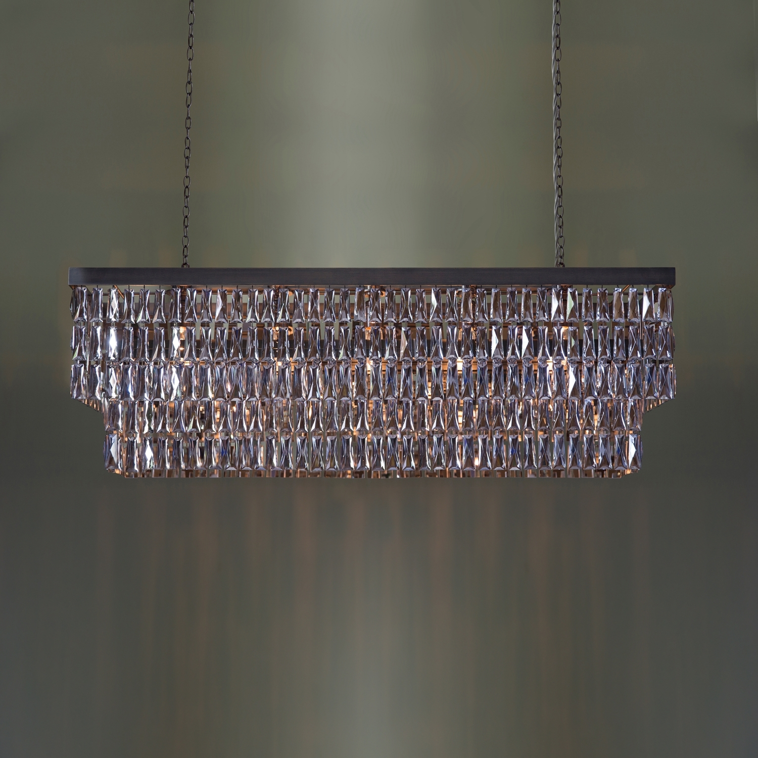Famous Mirrored Crystal Rectangular Chandelier – Tigermoth Lighting With Regard To Mirrored Chandelier (View 4 of 15)