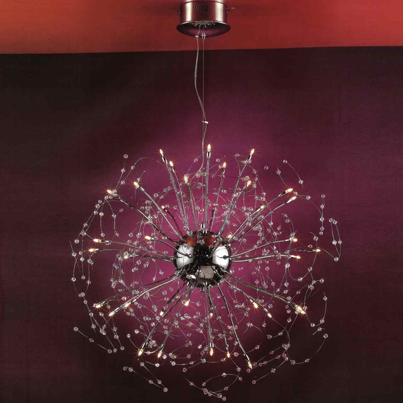 Famous Purple Crystal Chandeliers With Brizzo Lighting Stores (View 5 of 15)