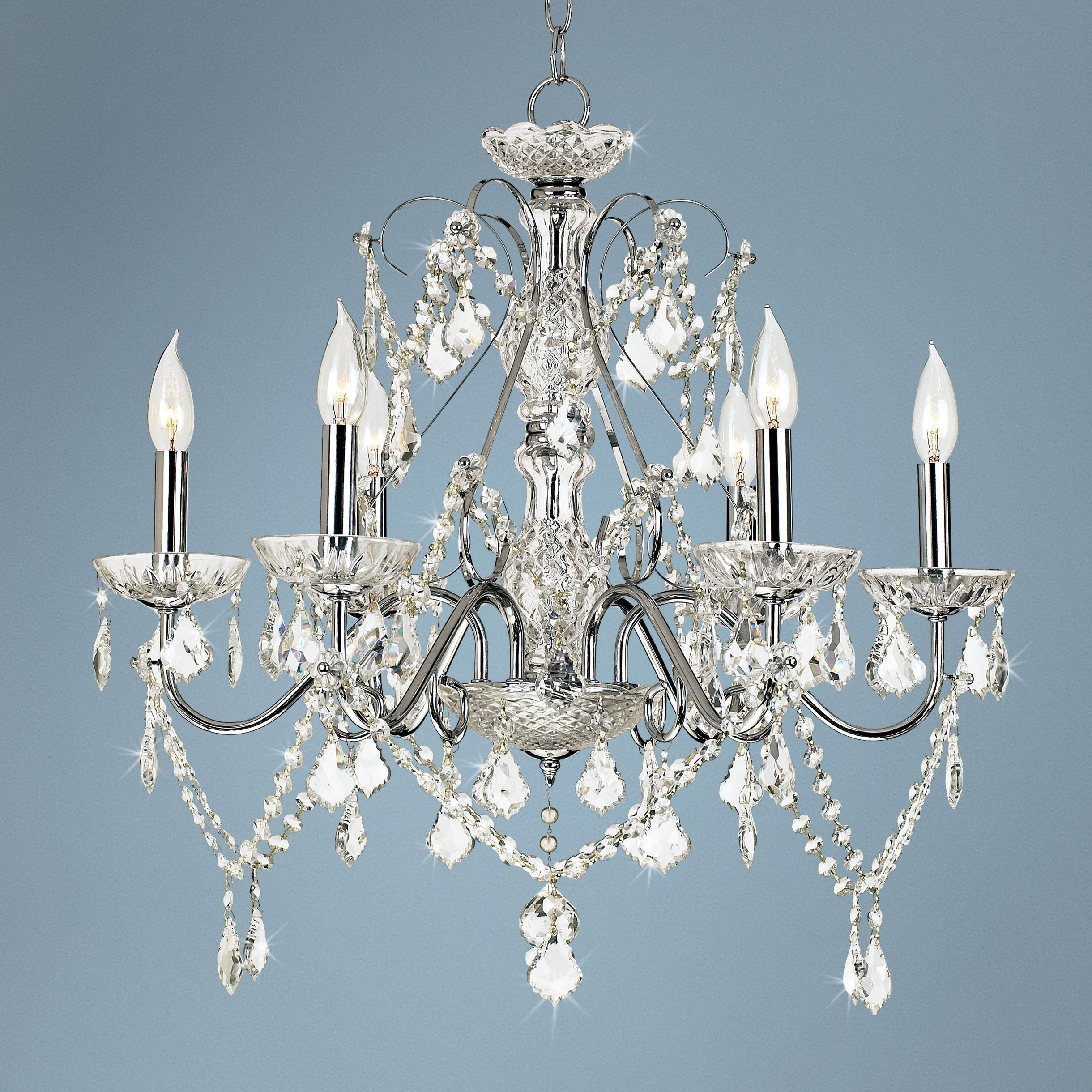 """Famous Vienna Crystal Chandeliers With Vienna Full Spectrum™ 23 1/2""""w Chrome And Crystal Chandelier (View 2 of 15)"""