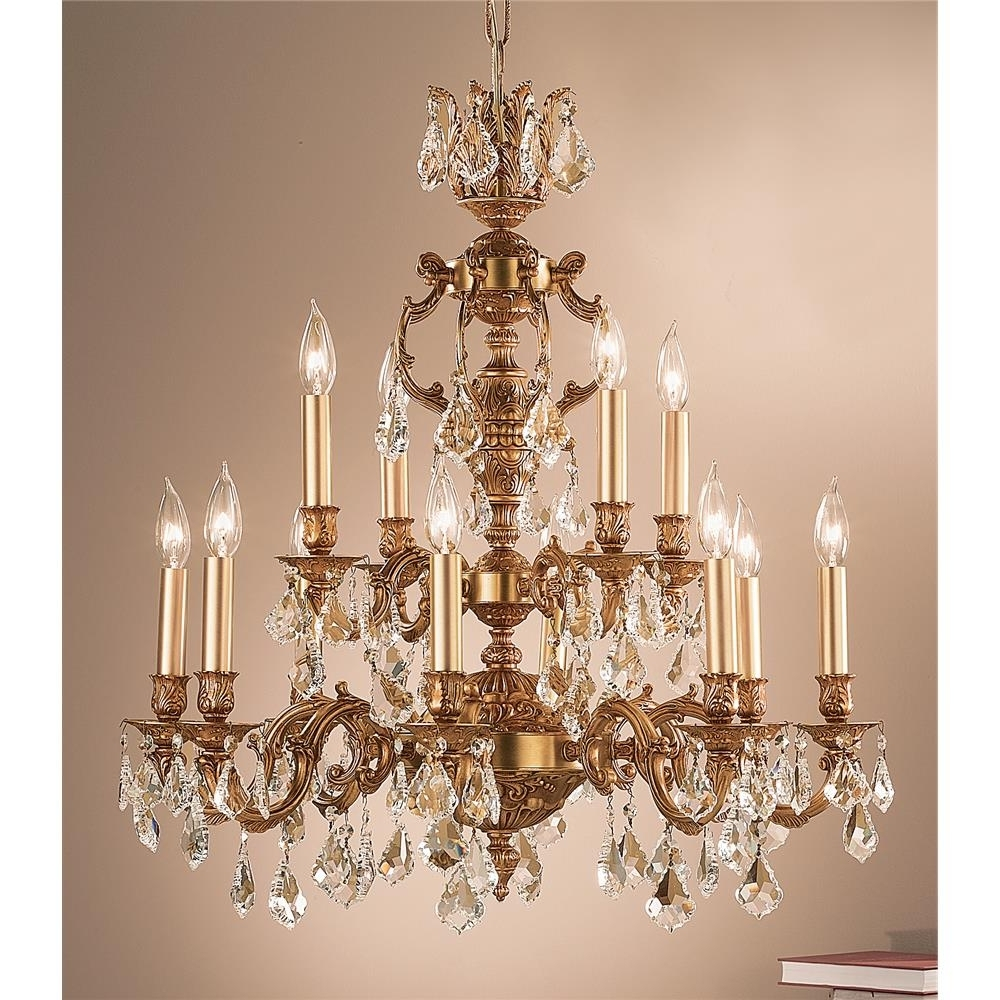 Fashionable Classic Lighting Chandeliers Series / Collection: Chateau Pertaining To French Gold Chandelier (View 10 of 15)