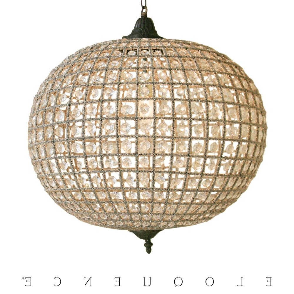 Fashionable Eloquence Globe Chandelier With Eloquence Large Globe Chandelier (View 3 of 15)