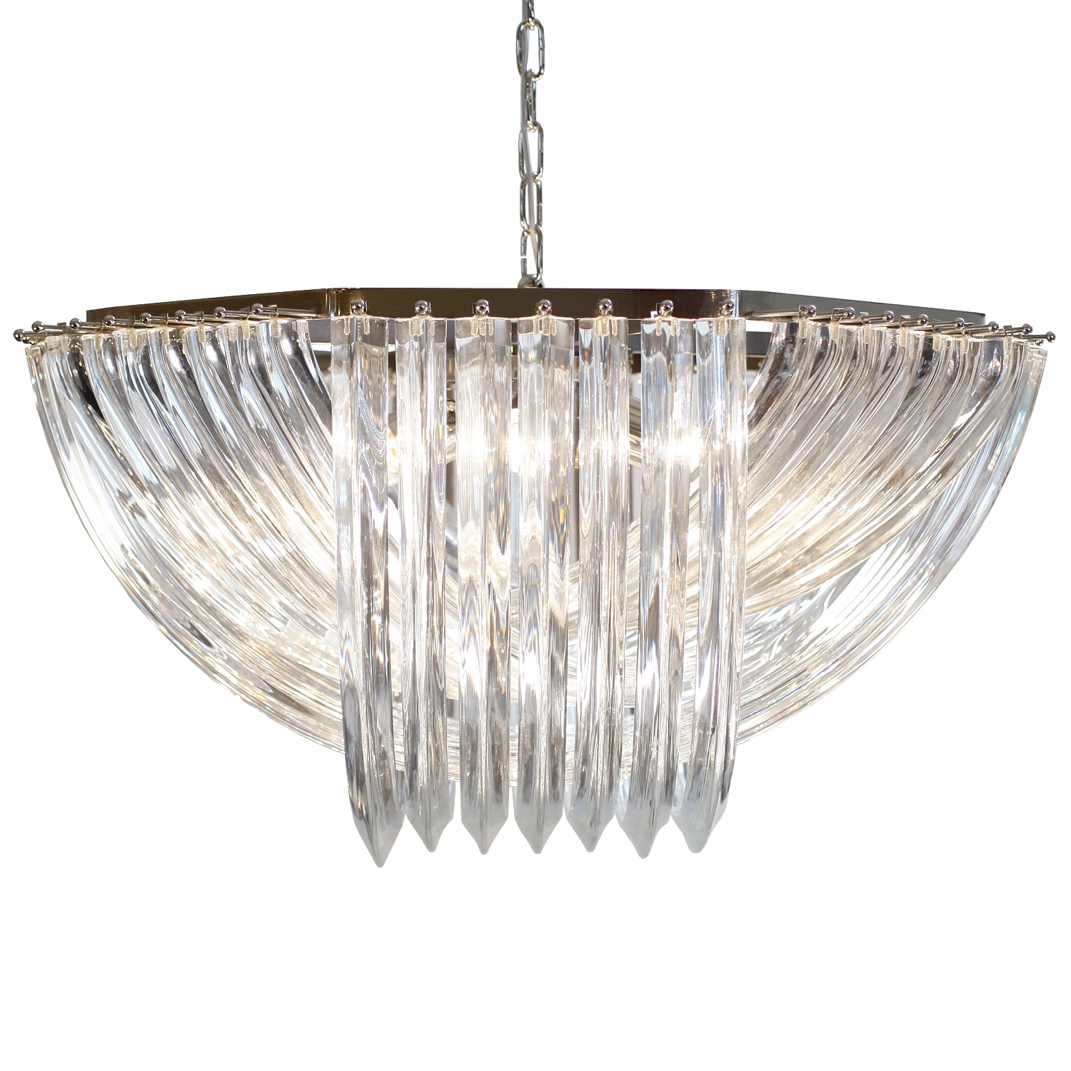Fashionable Glass Chandelier For Venini Style Murano Glass Chandelier – Jean Marc Fray (View 3 of 15)