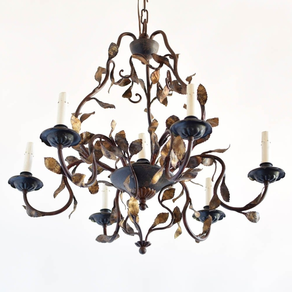 Fashionable Italian Chandelier With Leaves – The Big Chandelier With Regard To Vintage Italian Chandelier (View 2 of 15)
