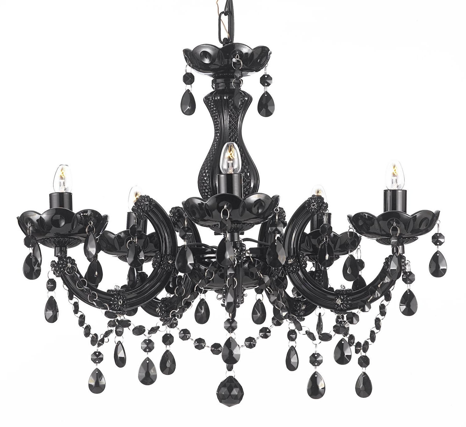 Fashionable Large Black Chandelier Intended For Living Room : Black Chandelier Black Chandelier Large Black (View 3 of 15)