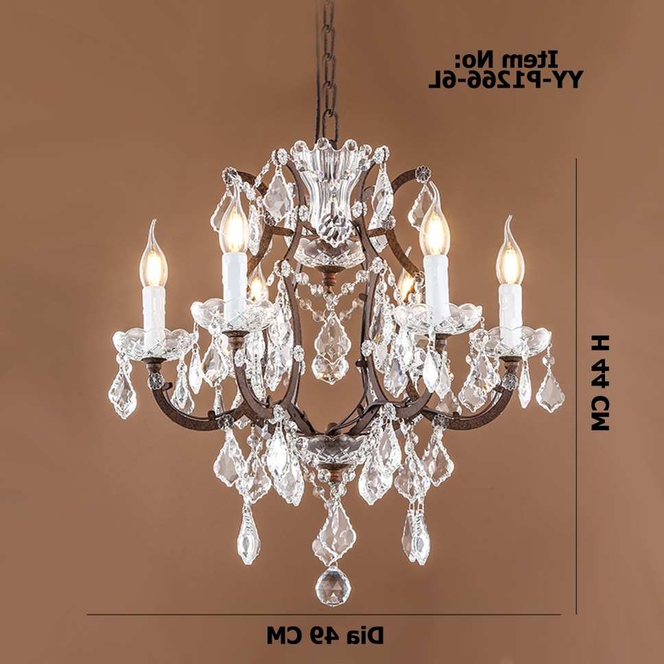 Fashionable Retro Antique Crystal Drops Chandeliers/large French American Empire In Retro Chandeliers (View 15 of 15)