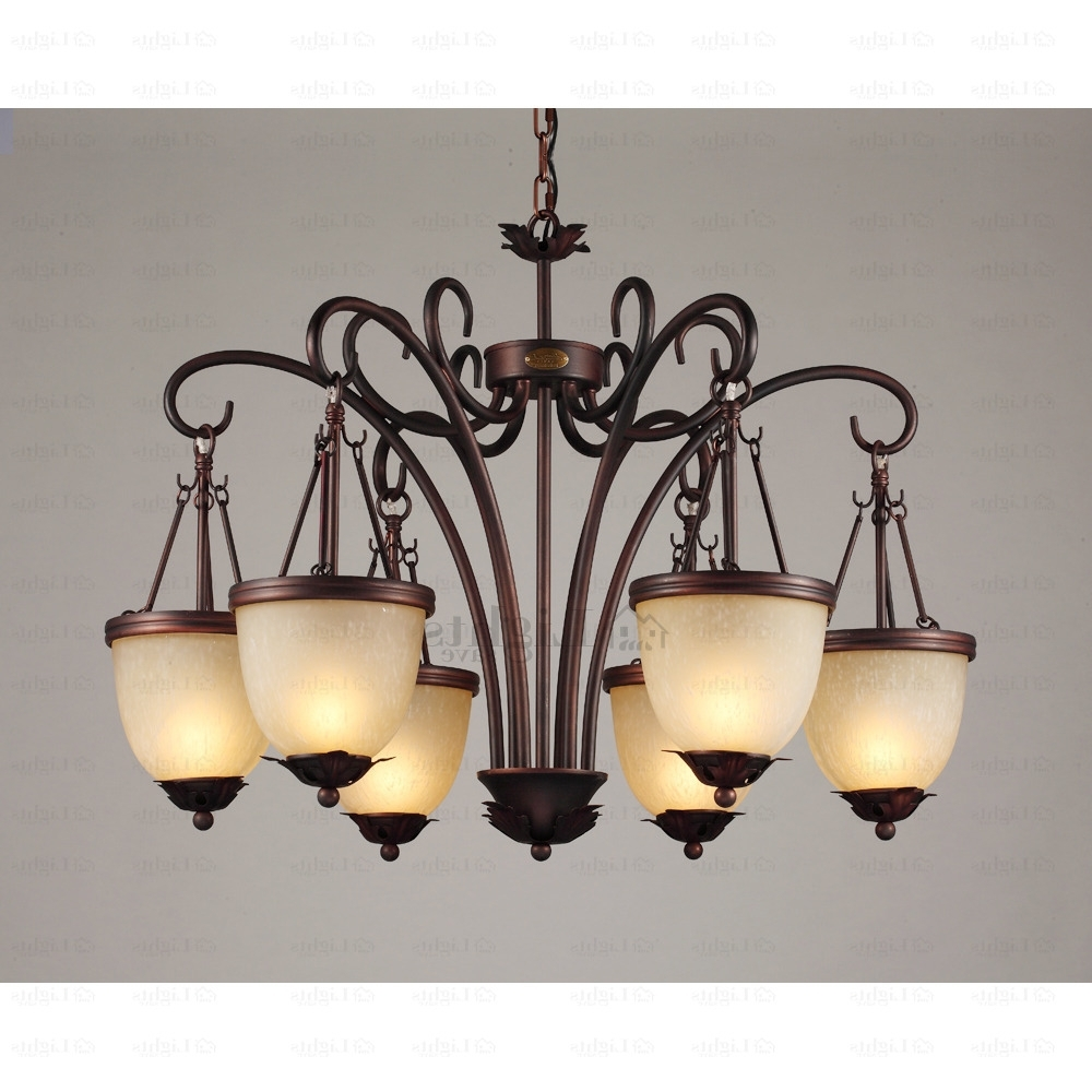 Fashionable Traditional Chandelier In Traditional 6 Light Hanging Antique Wrought Iron Chandelier (View 8 of 15)