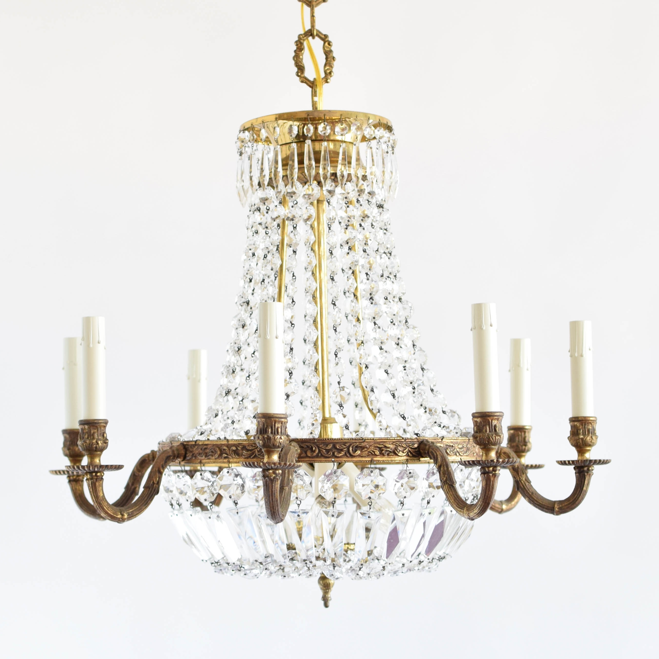 Fashionable Vintage Style Chandelier Intended For Empire Style Crystal Chandelier – The Big Chandelier (View 4 of 15)