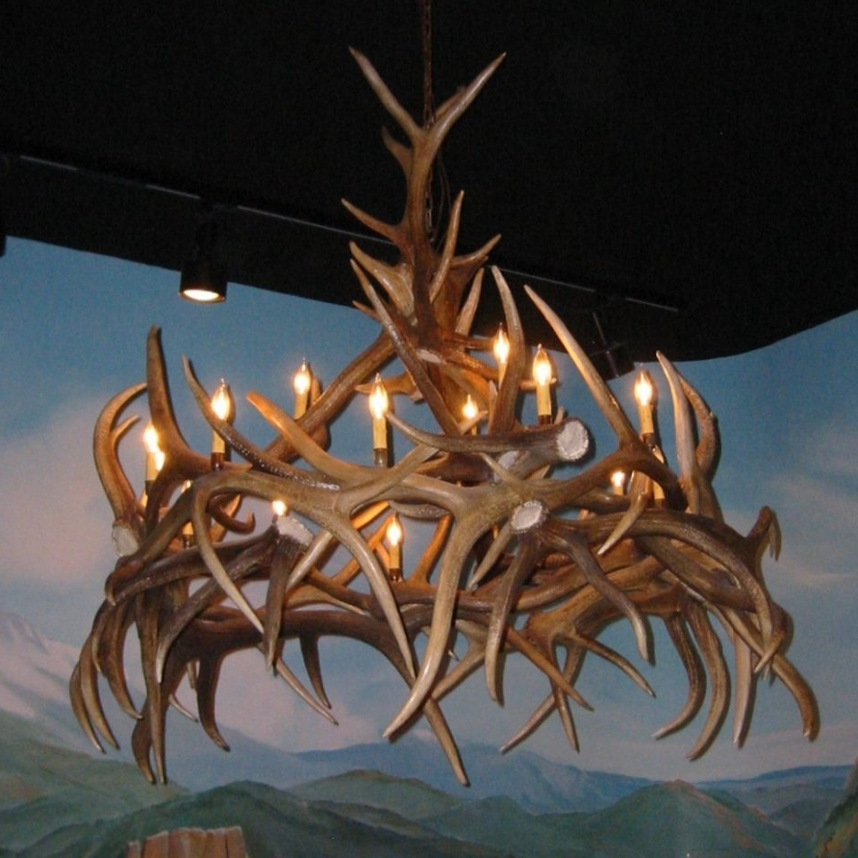Faux Antler Chandelier For The Natural (View 8 of 15)