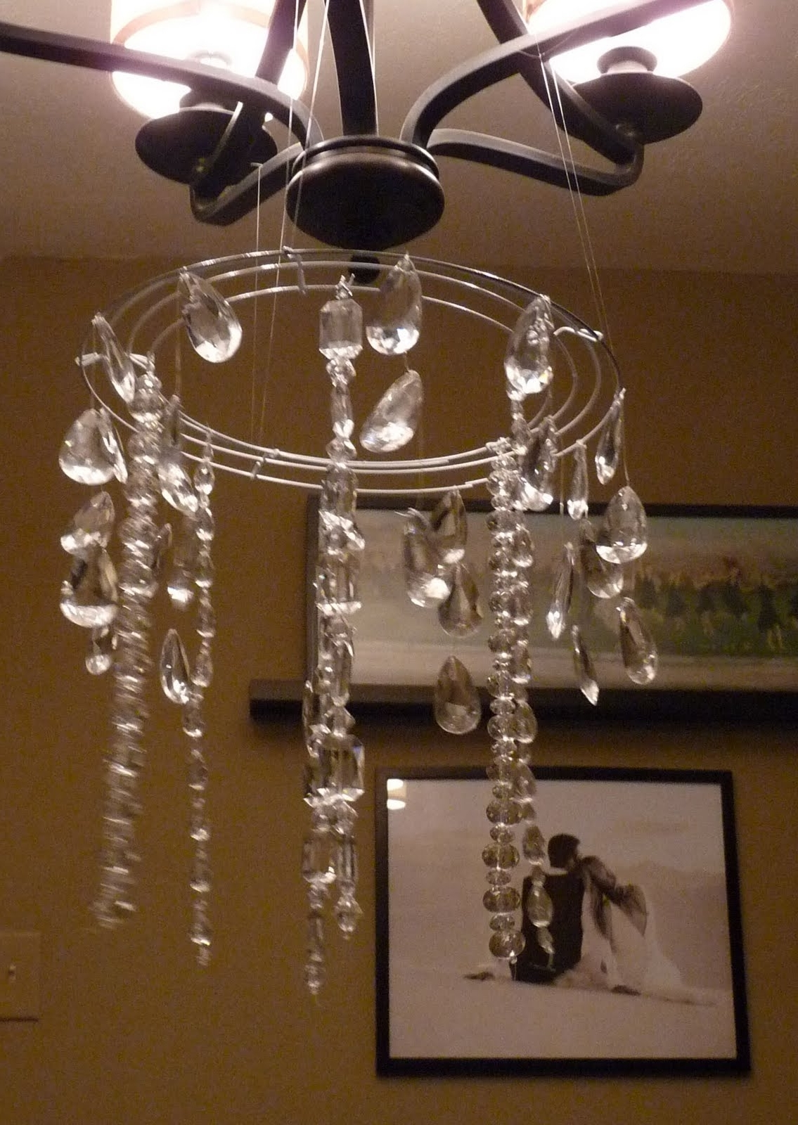 Faux Crystal Chandeliers Intended For Recent The Happy Homebodies: Tutorial: Diy Faux Crystal Chandelier (View 4 of 15)
