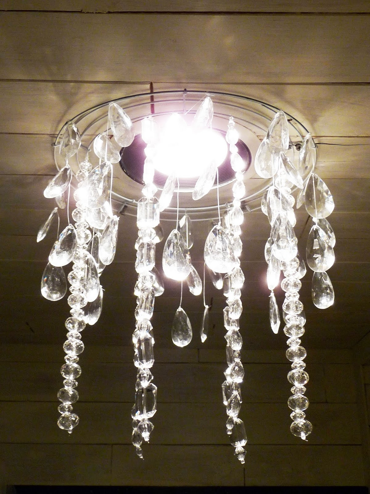Faux Crystal Chandeliers Pertaining To Trendy The Happy Homebodies: Tutorial: Diy Faux Crystal Chandelier (View 2 of 15)