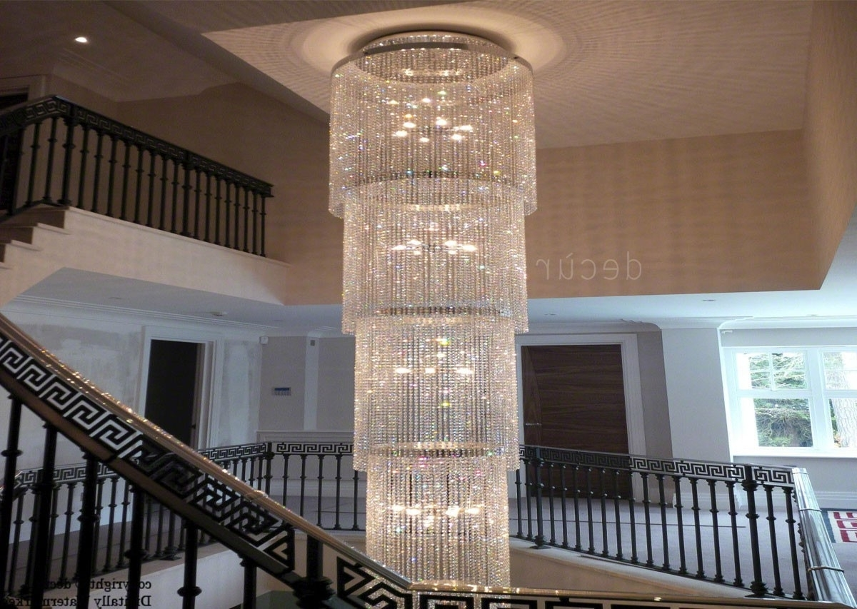 Favorite Chrystal Chandelier In Foyer – Trgn #6708F6Bf2521 Within Stairway Chandeliers (View 9 of 15)