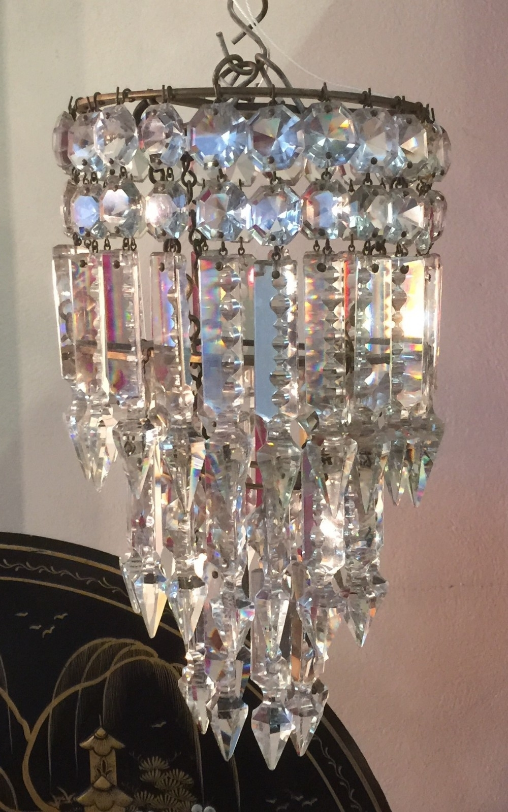 Favorite Cut Glass Lead Crystal 3 Tier Pendant Chandelier (View 7 of 15)
