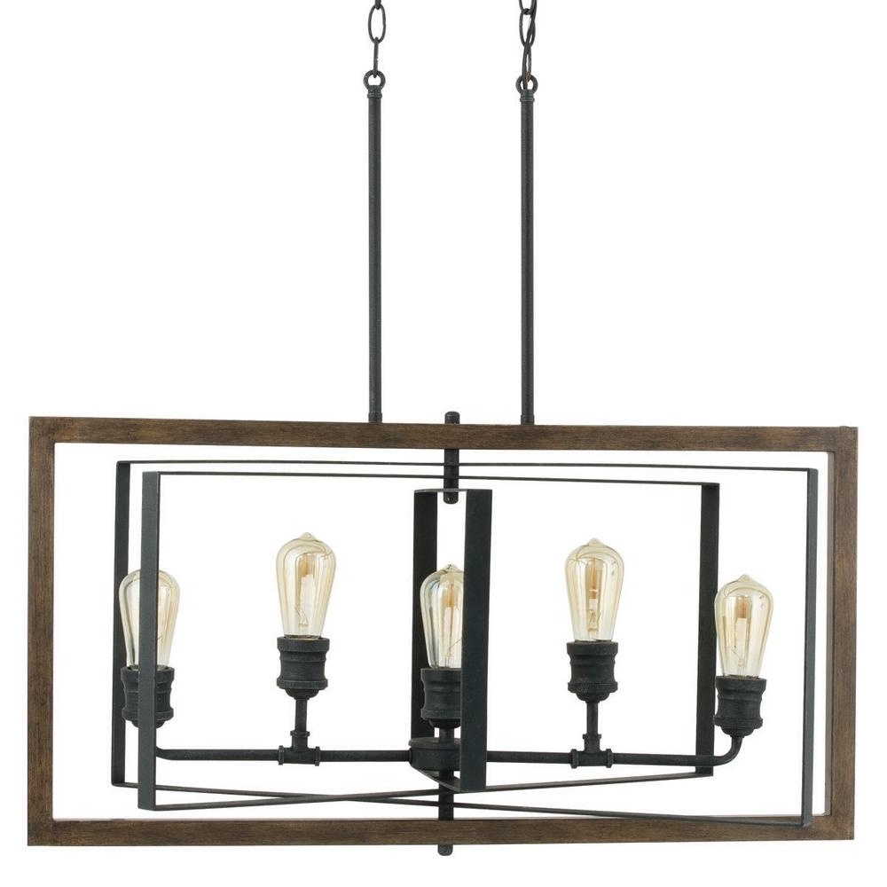 Favorite Home Decorators Collection Palermo Grove Collection 5 Light Black Inside Iron Chandelier (View 6 of 15)