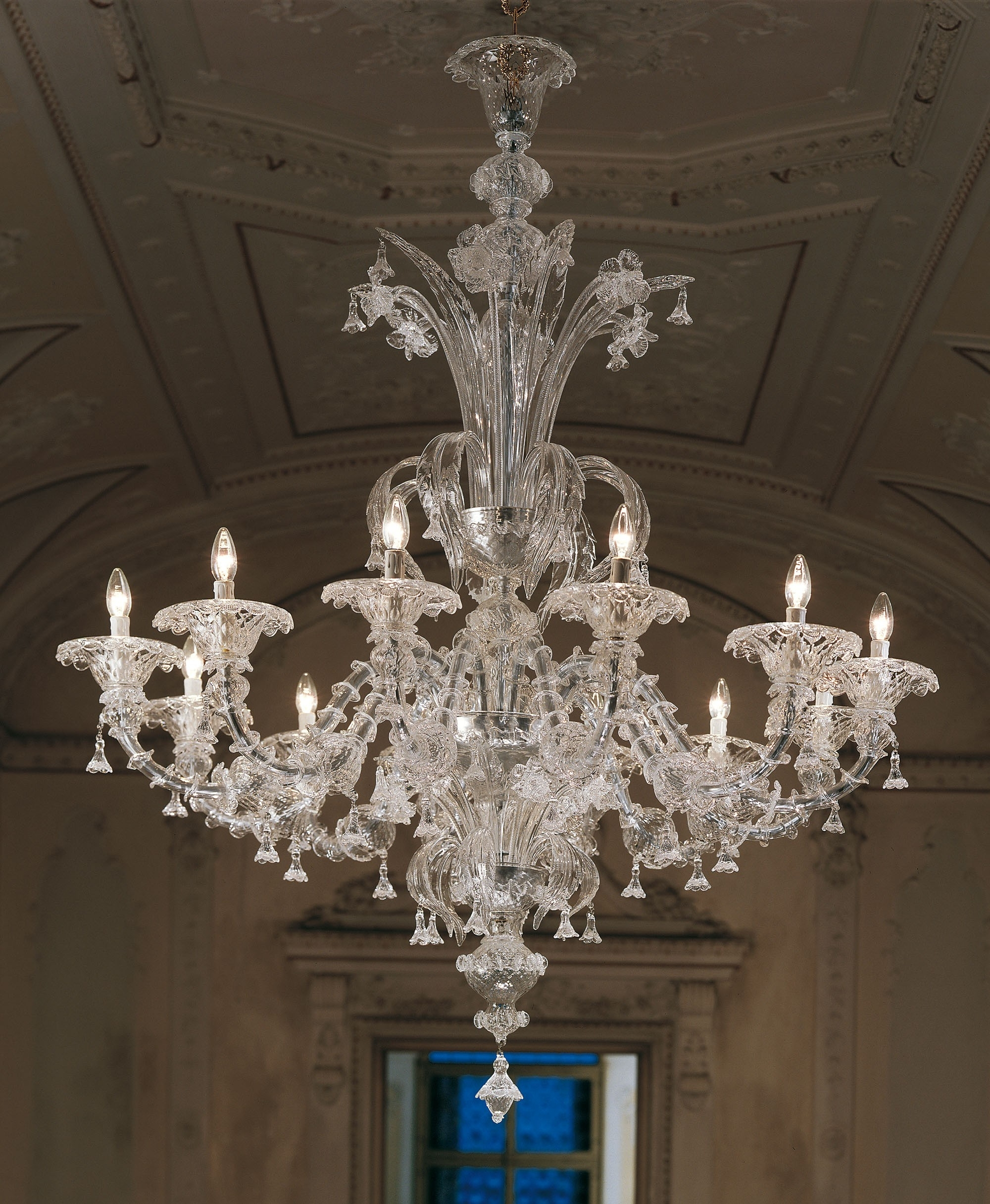 Favorite Large Clear Rezzonico Murano Chandelier L7099K12 For Murano Chandelier (View 2 of 15)