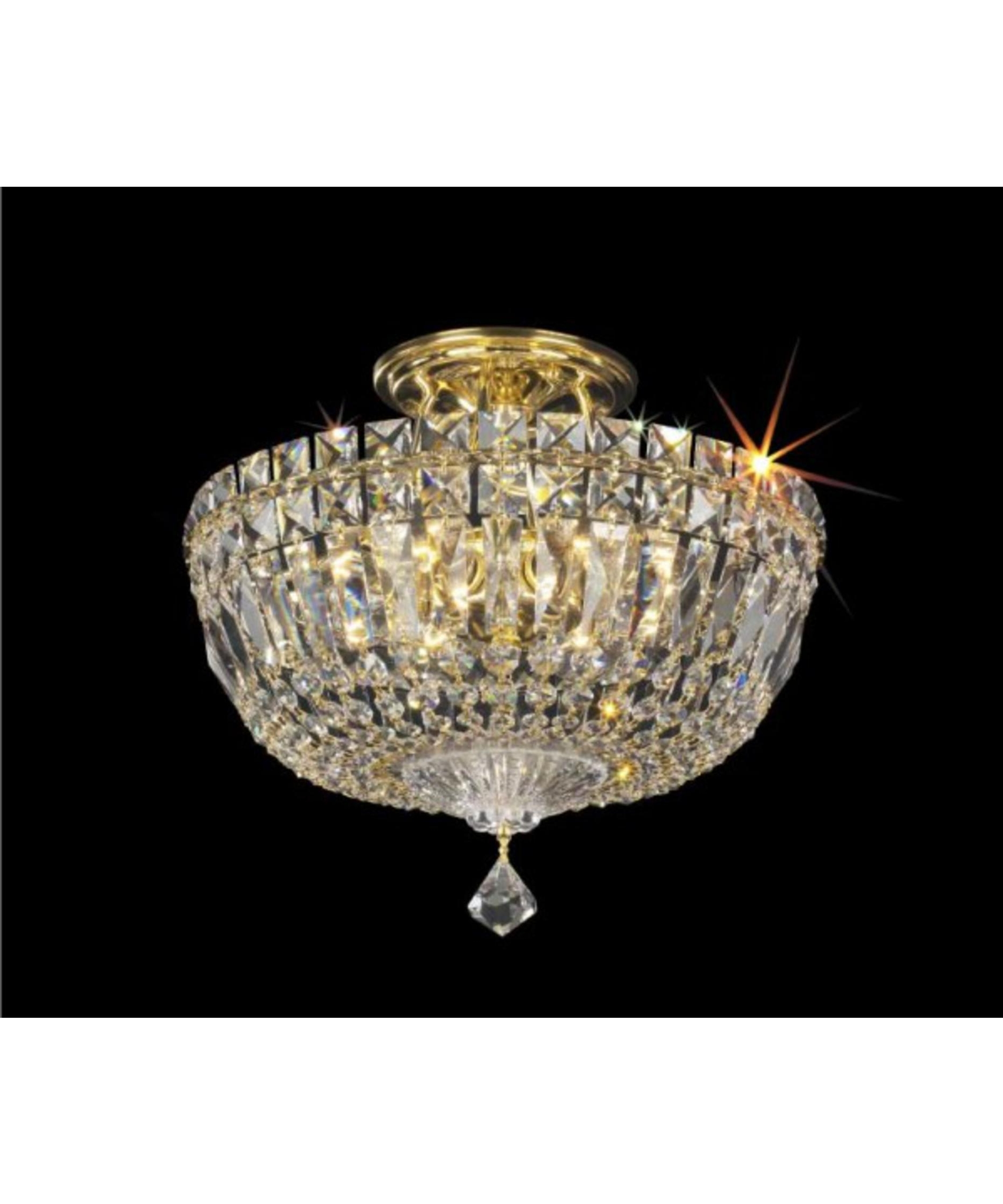 Favorite Light : Lovely Crystal Semi Flush Mount Lighting In Chandelier Of Inside Wall Mount Crystal Chandeliers (View 1 of 15)
