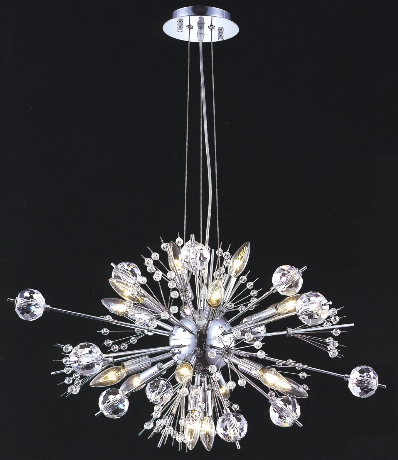Favorite Lighting 3400D24C/ec Crystal Cyclone Small Chandelier With Small Chandeliers (View 7 of 15)