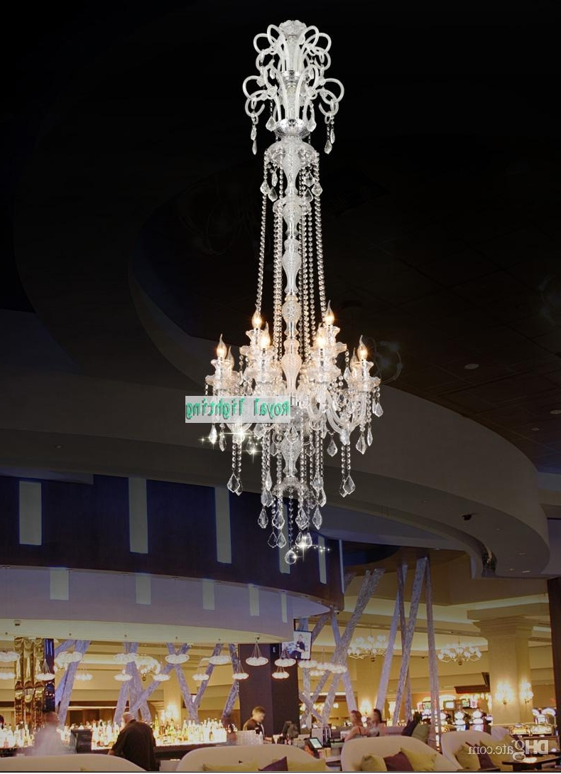 Favorite Long Hanging Chandeliers Throughout 205Cm Long Big Chandelier E14 Led Lamps Modern Large Luxury Crystal (View 6 of 15)