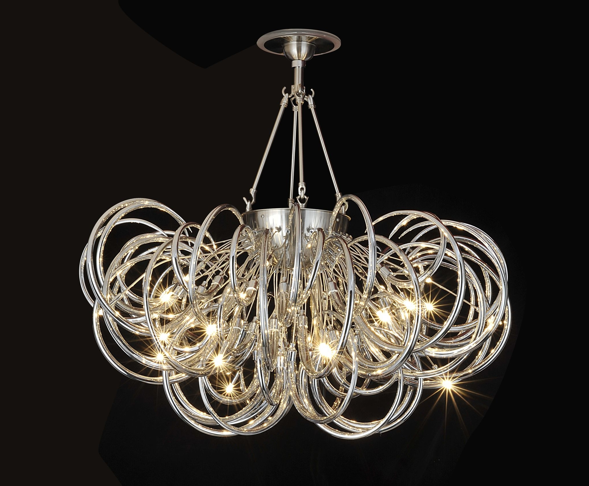 Favorite Modern Glass Chandeliers Intended For Amazing Fabulous Modern Glass Chandelier Contemporary Glass (View 10 of 15)