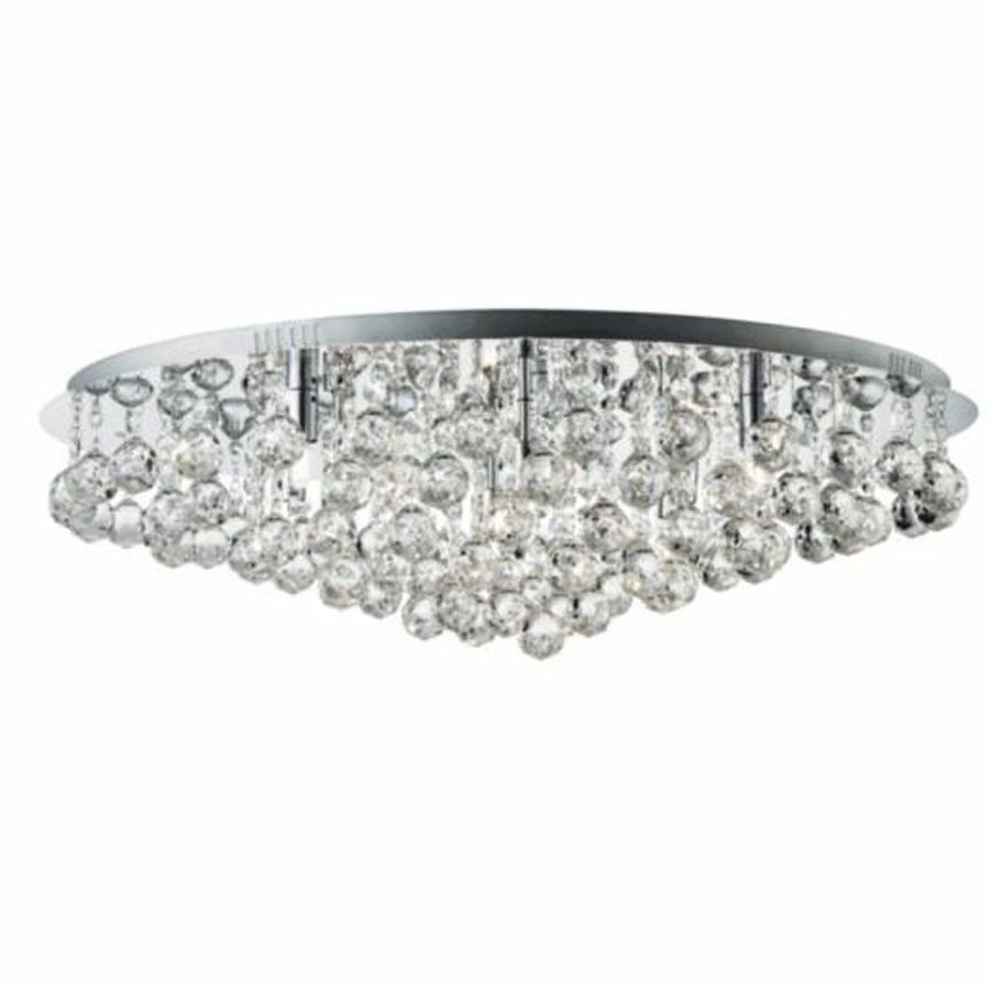 Favorite Searchlight 9598 8Cc Hanna Chrome 8 Light Semi Flush Crystal Balls Within Flush Chandelier Ceiling Lights (View 15 of 15)