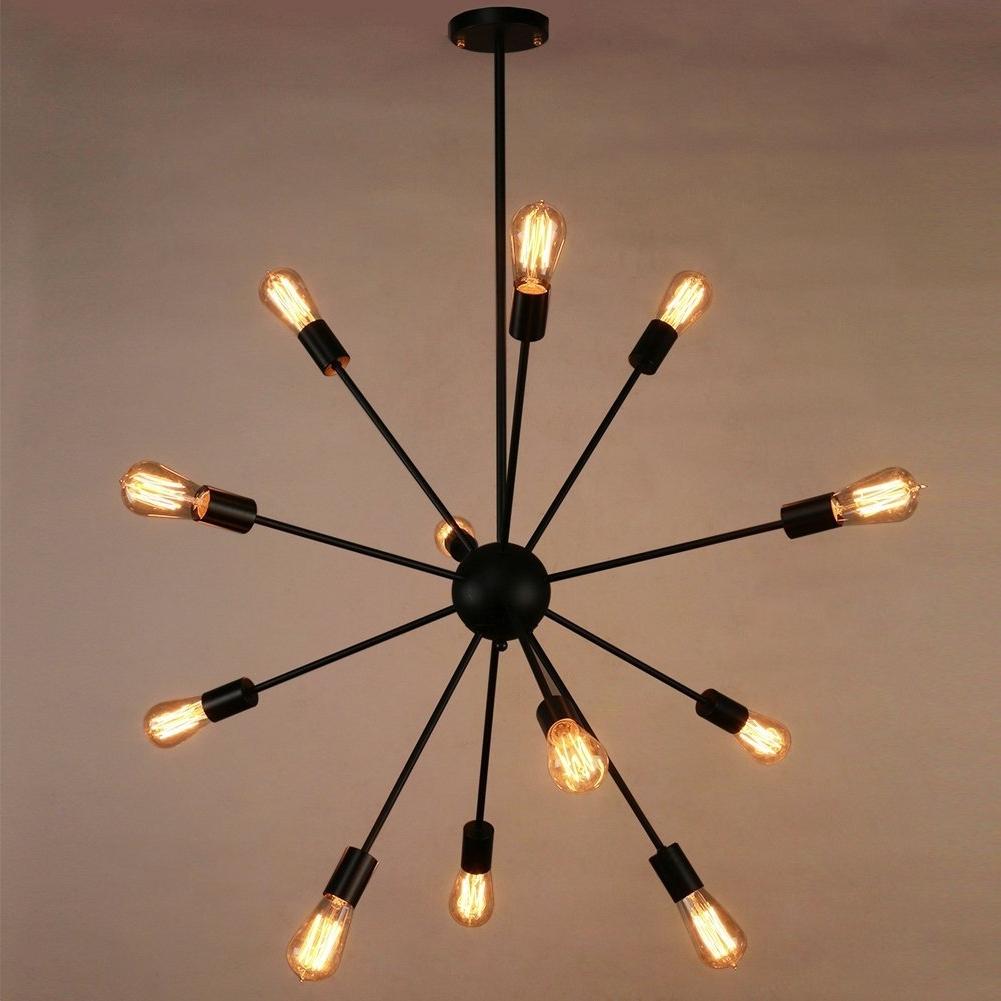 Favorite Ultra Modern Chandelier Intended For Sputnik Chandelier, Naturous 12 Lights Pendant Lighting, Painted (View 13 of 15)