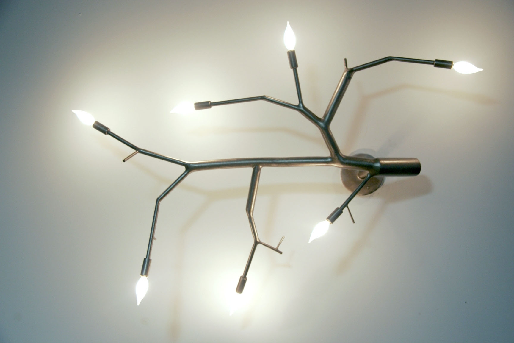 Favorite Wall Mounted Chandeliers For Poehlmann Contemporary Metal Branch Lighting (View 5 of 15)