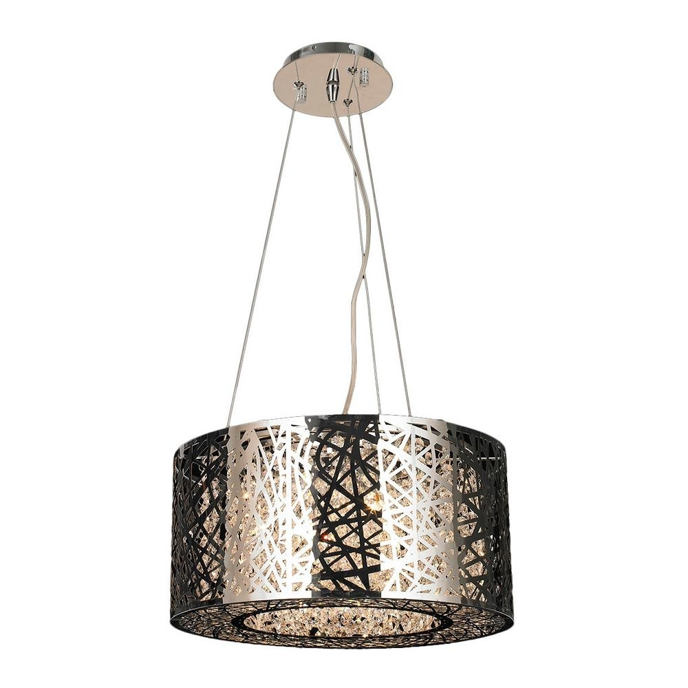 Favorite Worldwide Lighting Aramis Collection 6 Light Polished Chrome Intended For Modern Chrome Chandeliers (View 6 of 15)