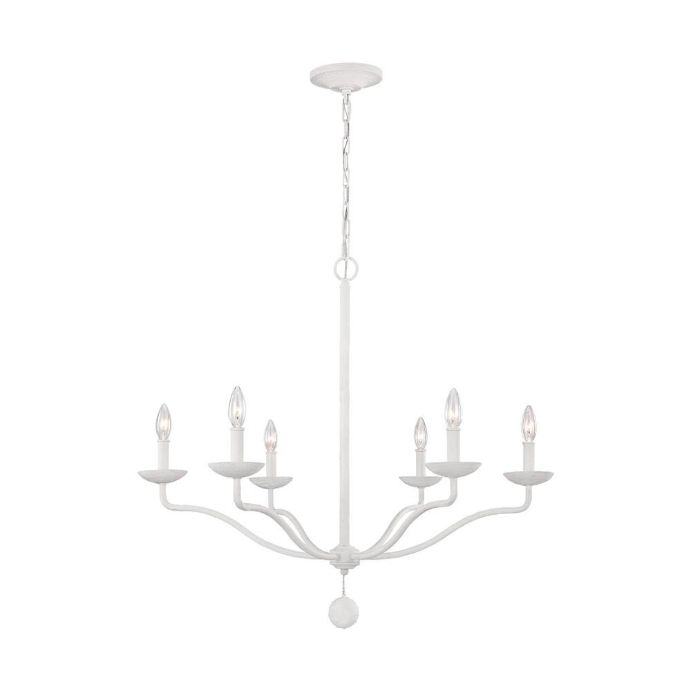 Feiss Annie 6 Light Plaster White Chandelier F3130/6Psw – The Home Depot Inside Famous White Chandelier (View 7 of 15)