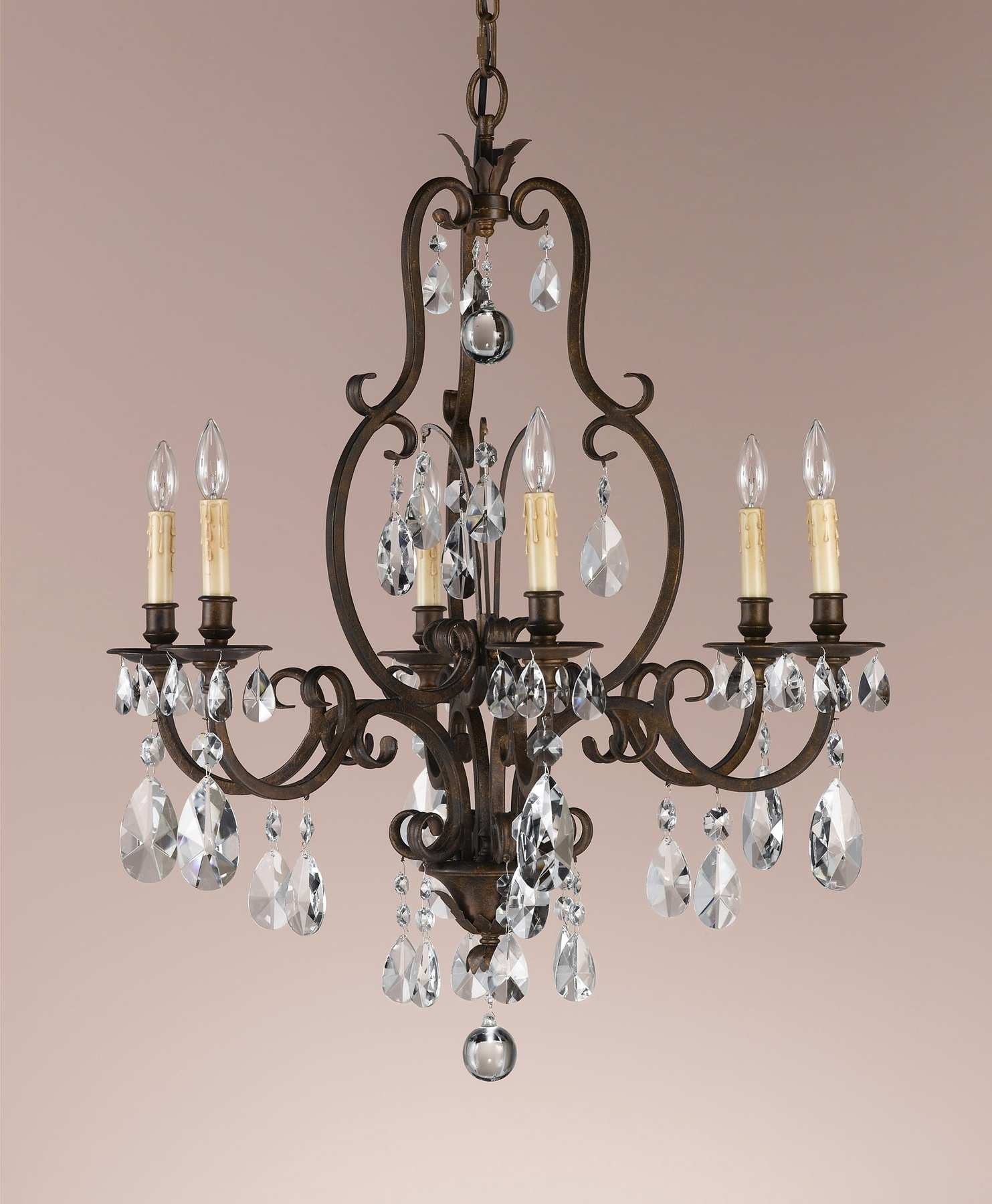 Feiss F2228/6Ats Crystal Salon Maison Six Light Chandelier In Current Feiss Chandeliers (View 8 of 15)