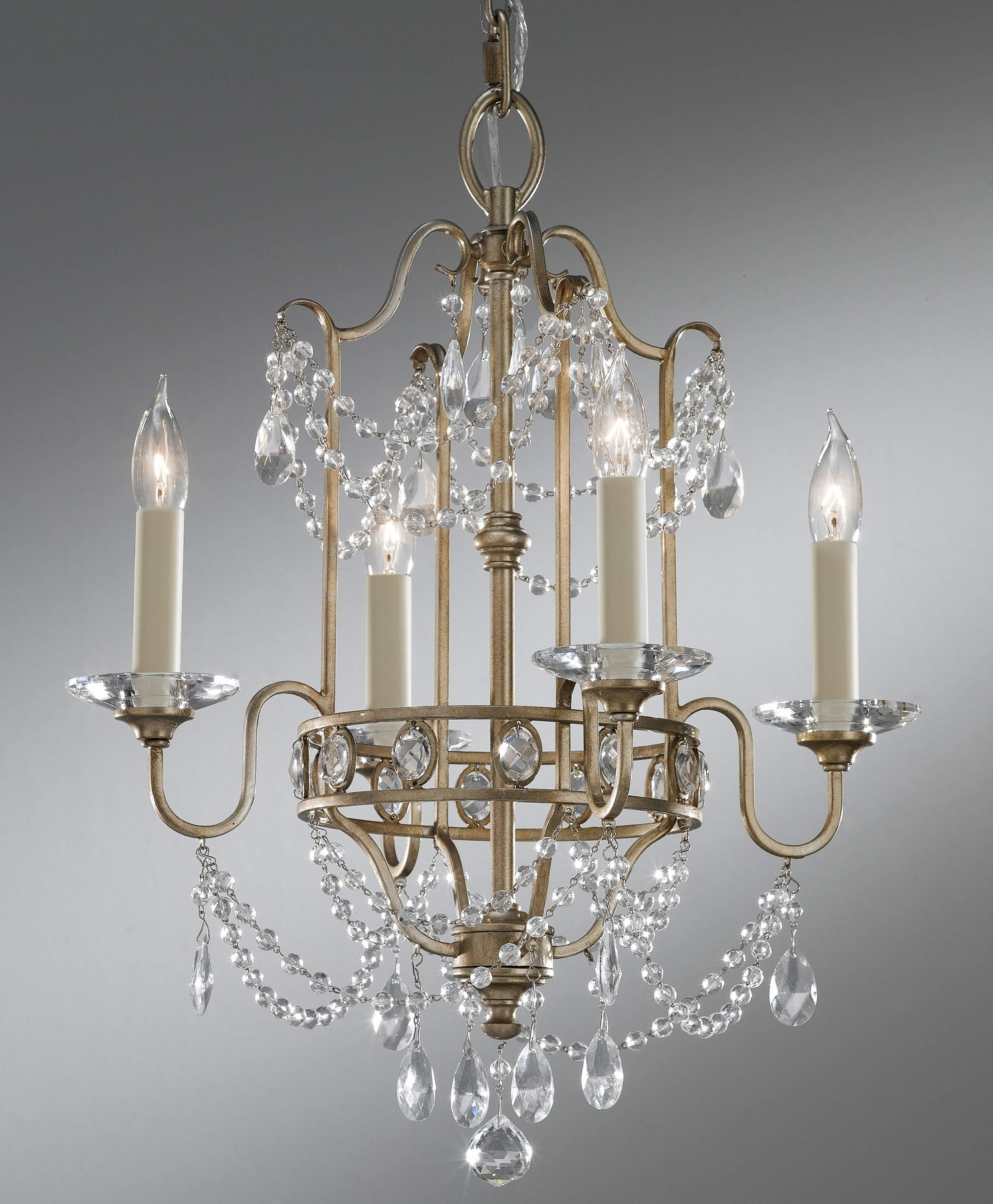 Feiss F2476/4Gs Crystal Gianna Four Light Mini Chandelier Within Most Recently Released Gianna Mini Chandeliers (View 5 of 15)