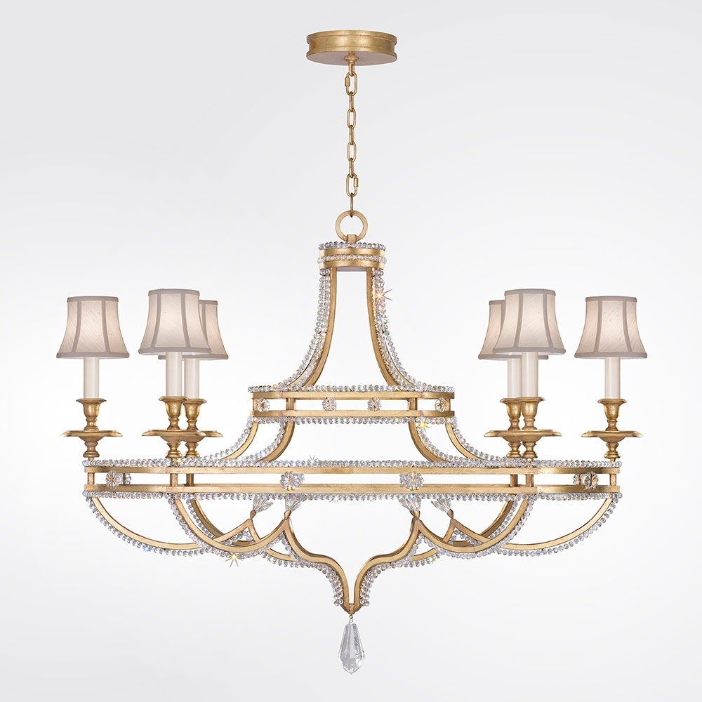 Fine Art Lamps 857840 21St Prussian Neoclassic Brandenburg Gold Leaf Within 2018 Gold Leaf Chandelier (View 4 of 15)