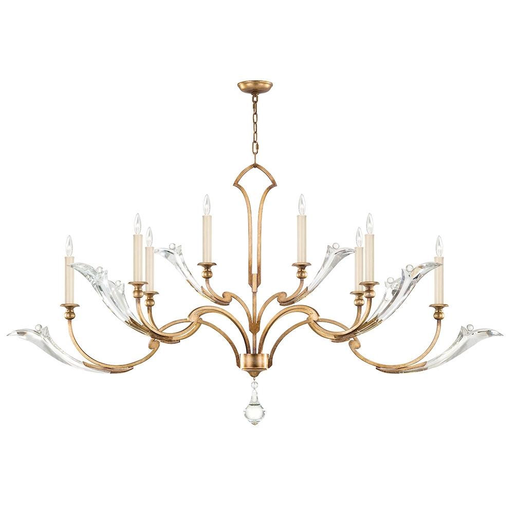 Fine Art Lamps 863640 2St Ice Sculpture Gold Leaf Chandelier Intended For Most Popular Gold Leaf Chandelier (View 8 of 15)