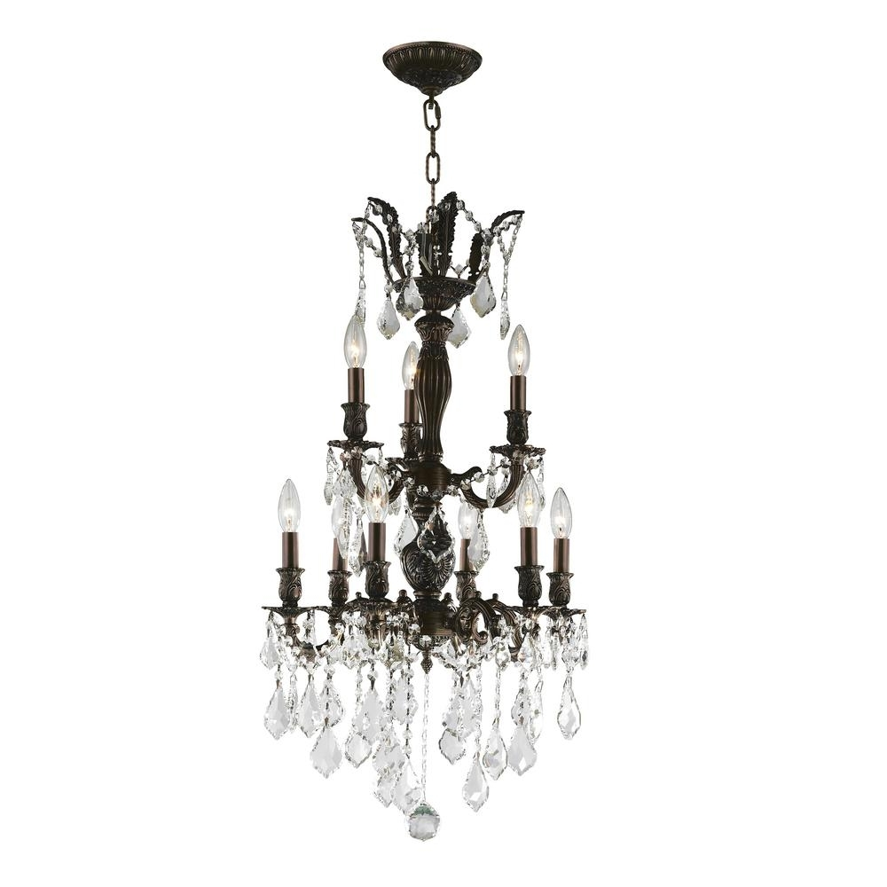 Flemish Brass Chandeliers In Popular Worldwide Lighting Versailles 9 Light Flemish Brass Chandelier With (View 8 of 15)
