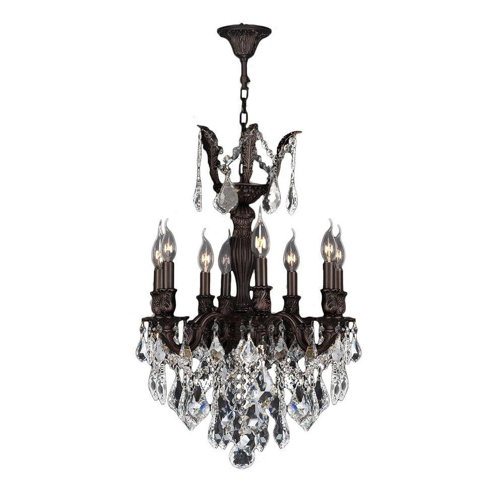 Flemish Brass Chandeliers In Widely Used Worldwide Lighting Versailles Collection 8 Light Flemish Brass (View 9 of 15)