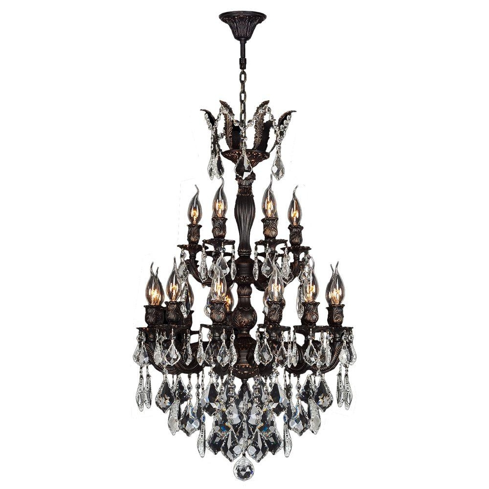 Flemish Brass Chandeliers Pertaining To Latest Worldwide Lighting Versailles Collection 18 Light Flemish Brass And (View 12 of 15)