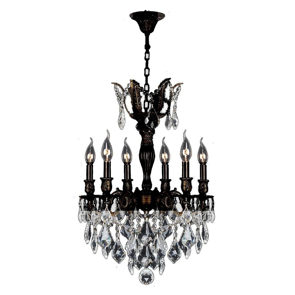 Flemish Brass Chandeliers Regarding Latest Worldwide Lighting Versailles 6 Light Flemish Brass Chandelier With (View 7 of 15)